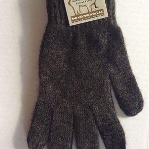 Alpaca All Terrain Gloves  L Dark Gray-Made in USA